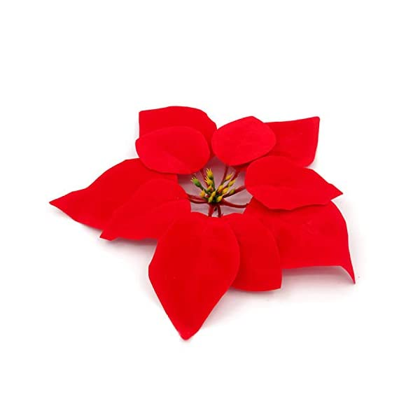 Gosear 10 UNIDS Realista Artificial Flores de Pascua Decoraciones Adornos para Navidad Home House Mall Party Red
