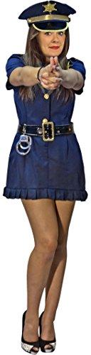 tin Politesse Kostüm Damen XS - XL mit Gürtel und Mütze (L/XL) ()