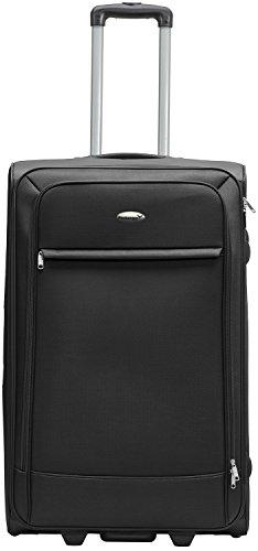 Packenger Lite Traveller Koffer Größe L in Schwarz. Die Abmessungen sind  63x43x24cm.
