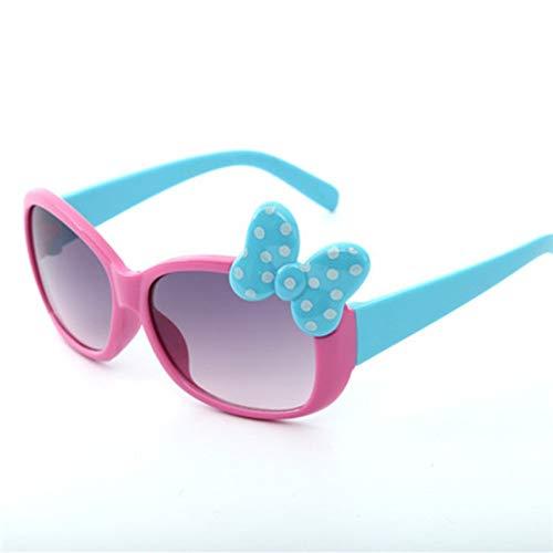 MoHHoM Sonnenbrillen Für Kinder,Fashion Cat Eye Cute Bug Kinder Sonnenbrille Für Junge Mädchen Baby Sonnenbrille Kinder Sport Outdoor Schatten Brillen Uv400 Rose Rot
