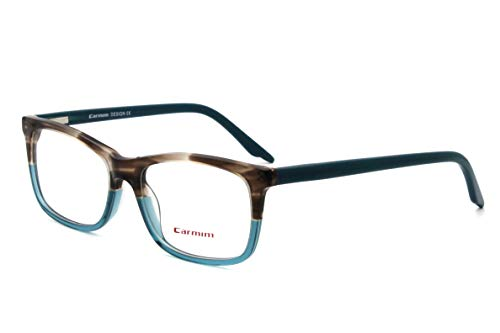 Carmim Men women rectangle shape clear lens acetate optical frames