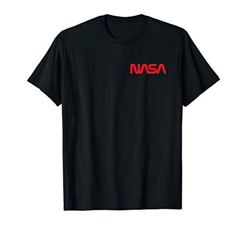 NASA Shirt, Neues Brust Worm Logo Abzeichen Trendiges Fun T-Shirt -
