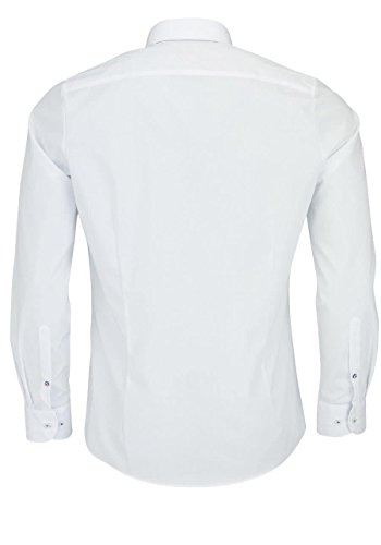 OLYMP Herren Hemd Level Five Patch extra langer Arm 69cm 2004 79 19 Weiß