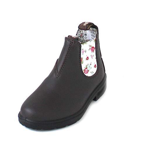 Blundstone 1641 Kinder Chelsea Boot Braun (33 EU) - Dunkelbraune Leder Kinder Schuhe