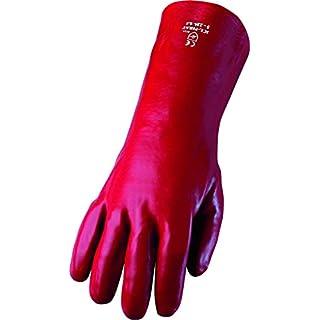 Asatex PL 35cm Long PVC Gloves Fully-Multi, Rot, Einheitsgröße
