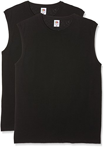 Fruit of the Loom Herren T-Shirt Valueweight Tank T, Schwarz (Black), 52 (Herstellergröße: XL) (Of The Loom Fruit Muskel-shirts)