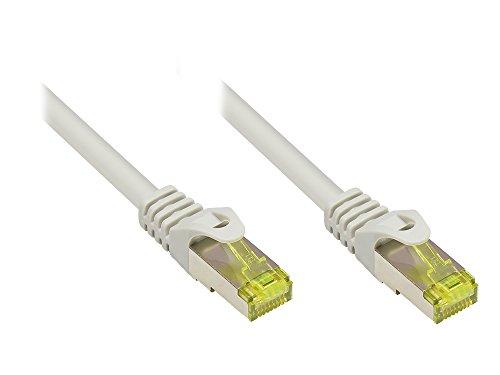Good Connections RJ45 Ethernet LAN Patchkabel mit Cat. 7 Rohkabel und Rastnasenschutz RNS, S/FTP, PiMF, halogenfrei, 500MHz, OFC, 10-Gigabit-fähig (10/100/1000/10000-Base-T Ethernet Netzwerke) - z.B. für Patchpanel, Switch, Router, Modem - grau, 40 m