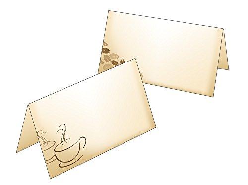 25 Stück Tischkarten/Geschenkanhänger Kaffee 2521-25 (Hochzeit Brunch Einladungen)