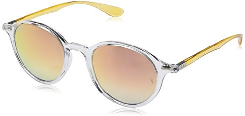 Ray-Ban RAYBAN Unisex-Erwachsene Sonnenbrille Round Liteforce, (Transparent/Greygrad.Brownmirrorpink), 50