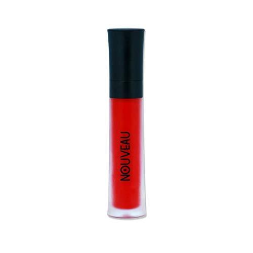 NOUVEAU COSMETICS - Rouge à lèvres liquide Lana - Rouge intense - Durable - Finition mate - Pigmentation élevée - Naturel et végétalien - Testé dermatologiquement - 6 ml