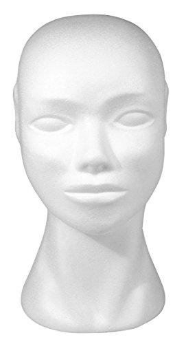RAYHER Hobby 3396700 Testa di Polistirolo Manichino Parrucche Cuffie Occhiali 29