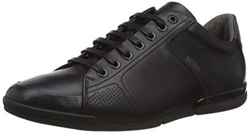BOSS Herren Saturn_Lowp_Lux4 Sneaker, Schwarz (Black 001), 43 EU