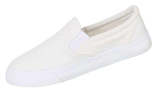 Damen Schuhe Halbschuhe Slipper Sommerschuhe Flache Freizeitschuhe Elfenbein