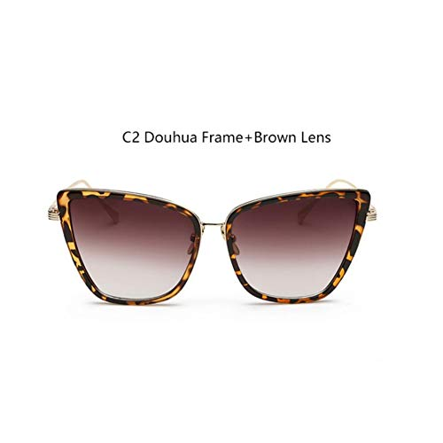 HYUHYU Berühmte Marken Gläser Übergroßen Cat Eye Sonnenbrille Schwarz Mode Frau Retro Sonnenbrille Weiblichen Brillen Rahmen