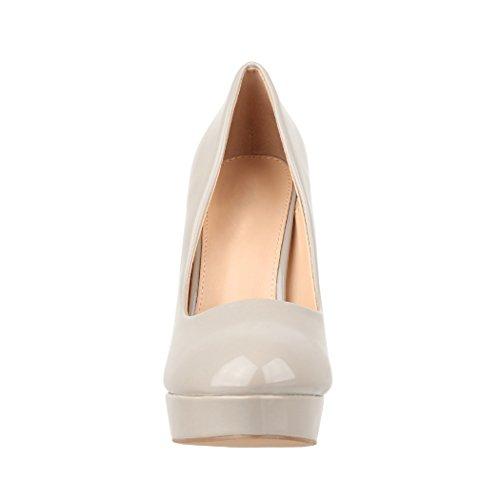 Elara Plateau Pumps | Moderne Damen High Heels | Stiletto Schuhe Grau Monaco