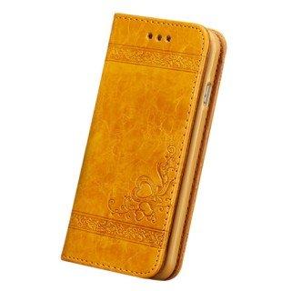 D9Q Premium Luxus Synthetik Leder Stand Flip Wallet Kartenhülle für Apple iPhone 5s rot