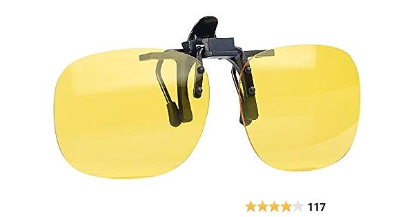 Pearl Nachtbrille Nachtsicht Brillenclip In Rundlichem Design Polarisiert Uv400 Auto Nachtsicht Brille Bekleidung