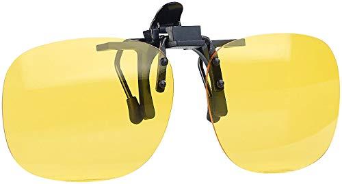 PEARL Brillenclips: Nachtsicht-Brillenclip in rundlichem Design, polarisiert, UV400 (Nachtsichtbrillenclips)