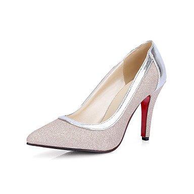 Zormey Fersen Fr¨¹hling Sommer Herbst Club Schuhe Pu Hochzeit B¨¹ro & Amp Karriere Kleid Stiletto Heel Silber Gold US4-4.5 / EU34 / UK2-2.5 / CN33
