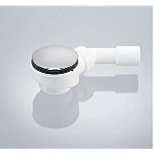 AQUADE Drain Set with Odour Trap for Shower Trays with Drain Hole Ø52mm, lid Stainless Steel 114mm, Quality Made in Germany