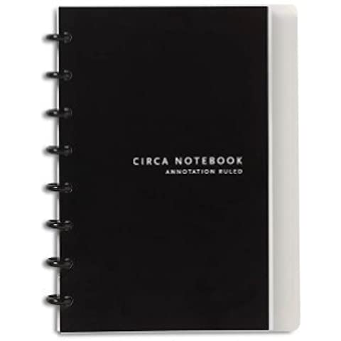 Levenger Circa Annotation 1/4 Ruled Notebook - Junior by Levenger