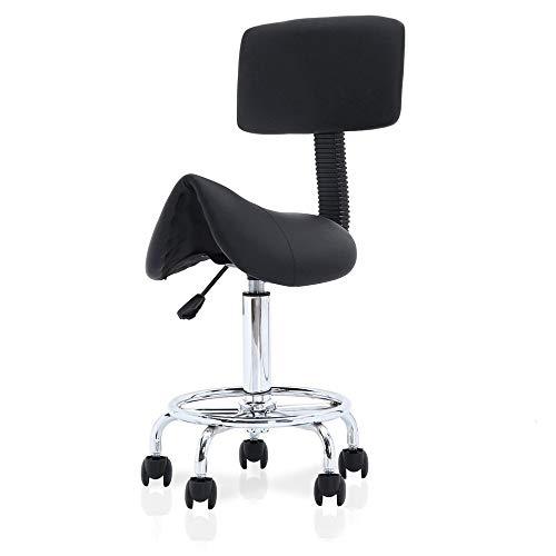 Retro-stil-barhocker (Chairs Industriellen Stil Barhocker, Retro Metall höhenverstellbar Schwenk Küche Esszimmerstuhl, Rückenlehne Bar Möbel LI Jing Shop (Farbe : Schwarz))