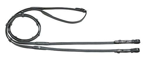 Zügel BioThane®, schwarz, Breite 15 mm, Länge 145 cm