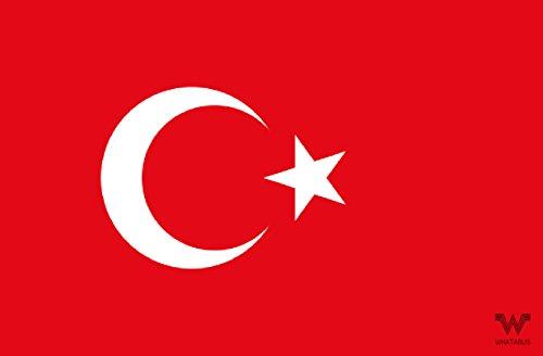 WHATABUS Aufkleber Flagge Türkei - Länderflagge als Sticker 8,5 x 5,5 cm