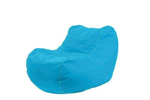 Jumbo Bag 29152-34 Fauteuil Design Chilly Bean Polyester Bleu Pétrole 105 x 75 x 70 cm