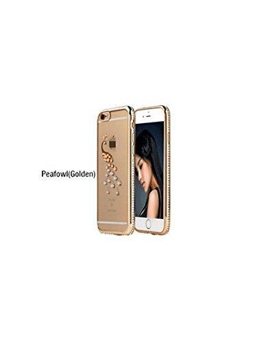 Custodia in TPU silicone per iPhone disegno custodia protettiva astuccio cellulare rosa IPHONE 6PLUS oro