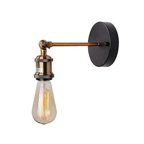 Lmdh americano retrò industriale regolabile lampada da parete puleggia appeso filo lampada da parete in ferro battuto illuminazione (dimensioni : 1 pack)