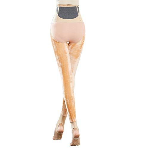 SJZC Leggins Donna Leggings Termici Invernali Pantaloni Fitness Modellante Legins Legghins003,Yellow,One-Size