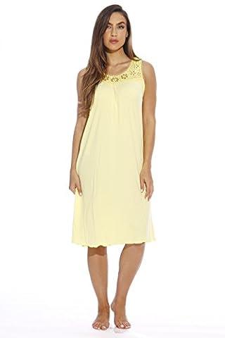 Just Love Women's Nightgown / Pajamas X-Large Yellow