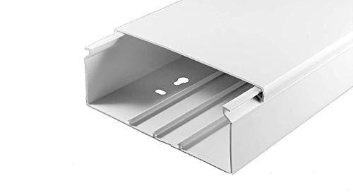 Brüstungskanal 100x50mm / 2m Elektro Fensterbank Kabelkanal Schacht PVC Geräteeinbaukanal weiß
