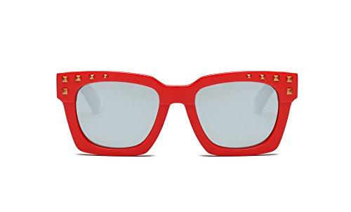 SOJOS Kinder Sonnenbrille Silikon verspiegelt für Jungen und Mädchen SK203 mit Rot Rahmen Schwarz...