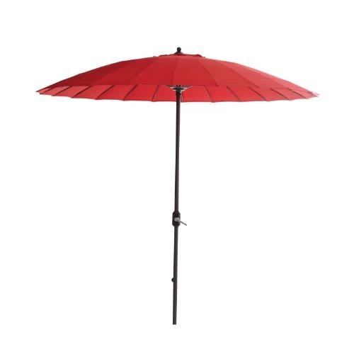 Garden Impressions 11078 Manilla Sonnenschirm Durchmesser 250 cm, Royal grau/rot