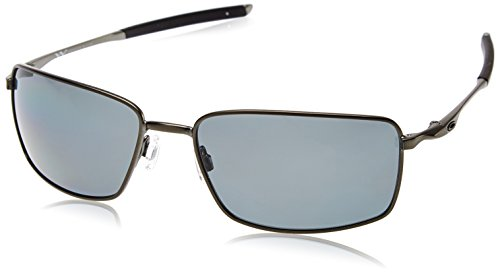 Oakley Herren Sonnenbrille Square Wire Grau Grey Polarized), 60
