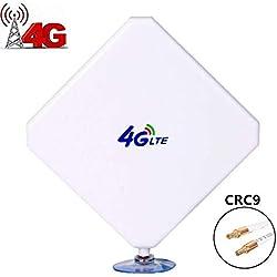 Aigital Antenne 4G LTE 35dbi CRC9 Connecteur Dual Mimo Booster 3G/4G/GSM Amplificateur de Signal Gain Elevé Réseau à Longue Portée pour Huawei Equipment ou ZTE USB Modem Wifi routeur