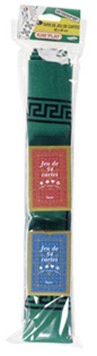 Kim'Play 1371 - Mantel para Juegos de Cartas con 2 Barajas (60 x 40 cm, 2 x 54 Cartas