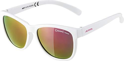 ALPINA Mädchen Luzy Sonnenbrille, White, One Size