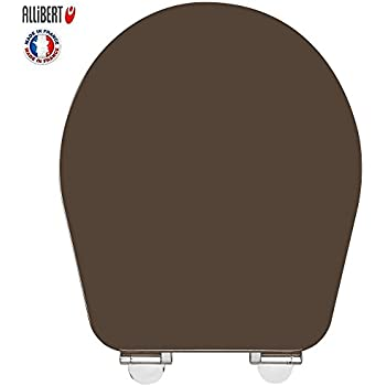 Allibert - 210127 - Abattant de toilette Kascade - Brun taupe - Bois - Frein de chute - Système Easy Click et Bacteria Stop .507