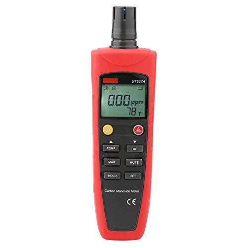 Kohlenmonoxid-Handmessgerät mit hoher Genauigkeit UNI-T UT337A Kohlenmonoxid-Messgerät CO-Tester mit Sound- und Lichtalarm-Hintergrundbeleuchtung