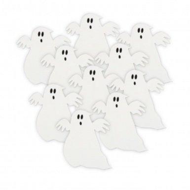 Unique Halloween Mini Flying Ghouls Karton Dekorationen 12,7x 12,7cm-10Stück (Halloween Ghouls Hängen)