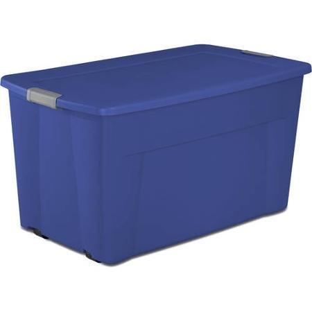 Sterilite 45 Gallon Wheeled Latch Tote- Stadium Blue, Case of 4 by STERILITE (Tote Wheeled)