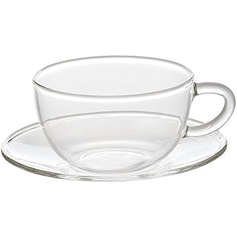 Bitossi Home Set Kaffeetasse mit Untertasse 6UDS. Romantic 90ml transparent