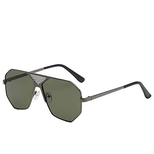 Fashion Classic Männer Polygon Sonnenbrille Retro- Frauen-Metallhöhle große Feld-Sun-Glas-Gradient Brillen, 5