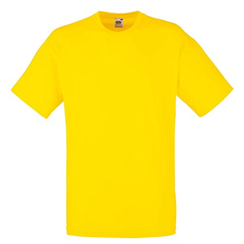 Fruit of the Loom - T-shirt - Homme Jaune Jaune