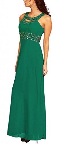 My Evening Dress Élégante robe de soirée empire longue coupée à la taille avec des faux diamants Femme Vert Foncé