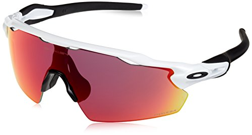Oakley Men's Radar Ev Pitch 921112 Sunglasses, White (Polished White), 38