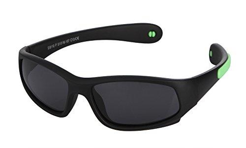Lukis Kinder Sonnenbrille Polarisierte Sportbrille UV-Schutz Wayfare für Jungen und Mädchen 118x50mm Farbe-8